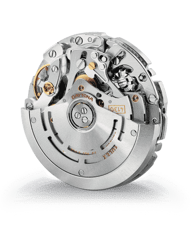 daytona watch insides with gears exposed